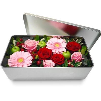 Original les fleurs en boite amour tendresse livraison for Bouquet de fleurs dans une boite