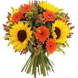 Les fleurs du fleuriste Bouquet 1,2,3, Soleil ! - 123fleurs