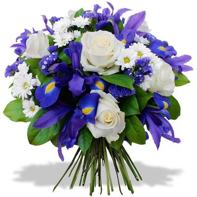 Les fleurs du fleuriste bouquet azur nacr livraison en 4h for Bouquet de fleurs 123