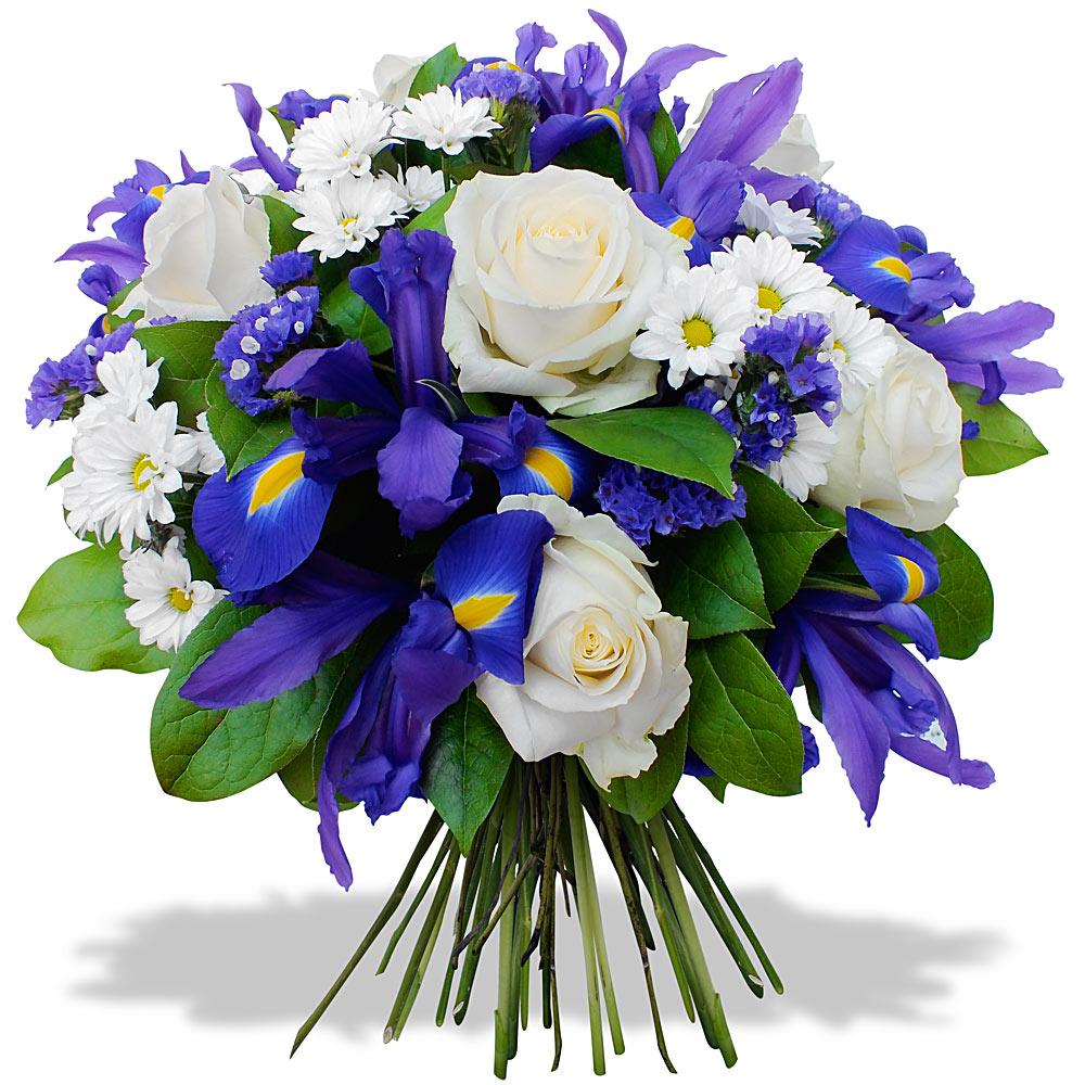 Bouquet de fleurs bleu