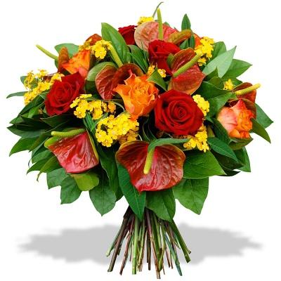 Bouquet big bisous livraison en 4h for Bouquet de fleurs jaunes