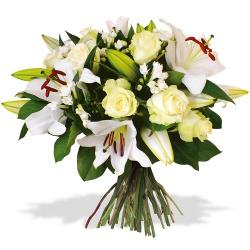 Bouquet de lys livraison de lys par un fleuriste 123fleurs - Lys blanc signification ...