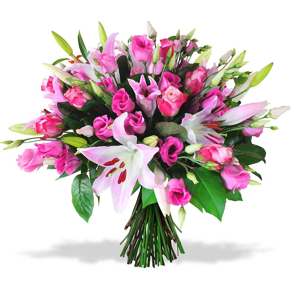 Les fleurs mariage bouquet d 39 amour rose for Bouquet de fleurs 123