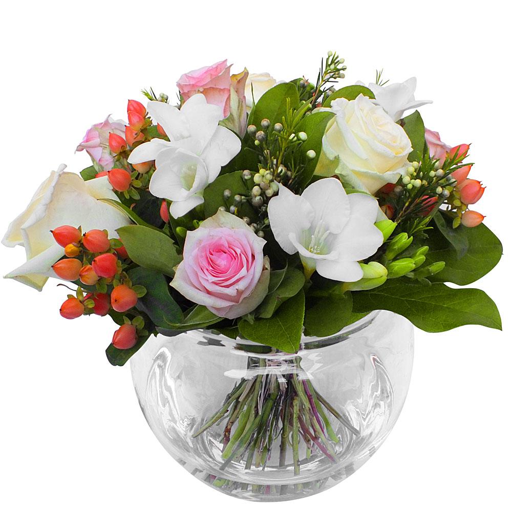 Les fleurs du fleuriste bouquet darling for Fleuriste fleurs