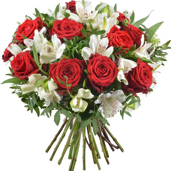 Bouquet De Roses Elégance Livraison De Fleurs 123fleurs