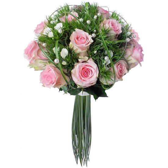 bouquet de mari e perle de roses. Black Bedroom Furniture Sets. Home Design Ideas