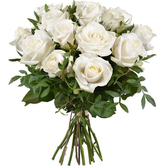 bouquet de roses blanches livraison de roses 123fleurs. Black Bedroom Furniture Sets. Home Design Ideas