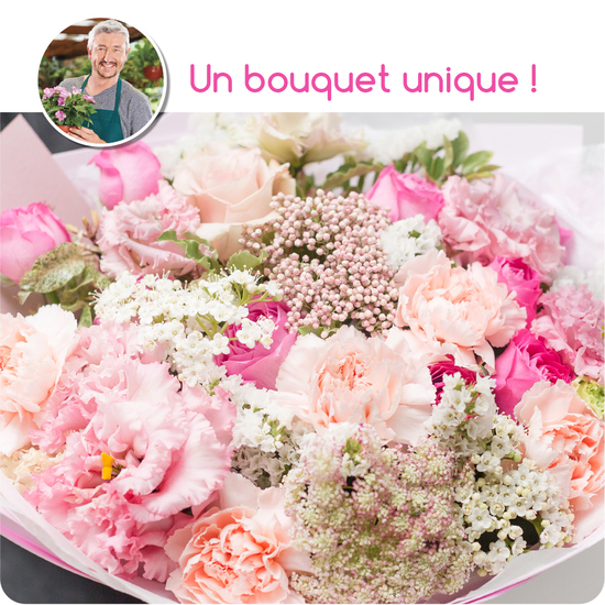 Bouquet du fleuriste - rose-catal.papier
