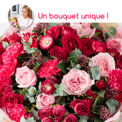 Bouquet du fleuriste - rose et rouge-catal.papier