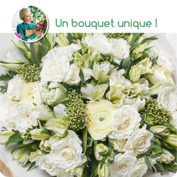 Bouquet du fleuriste tons blancs