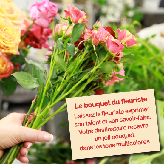 Bouquet du fleuriste tons colores for Bouquet fleuriste