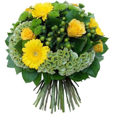Les fleurs du fleuriste bouquet emeraude livraison en 4h - Joli bouquet de fleurs ...