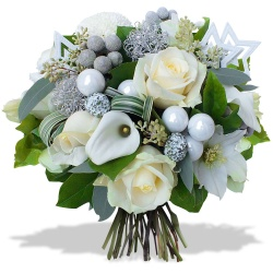offrez un bouquet blanc Flocon