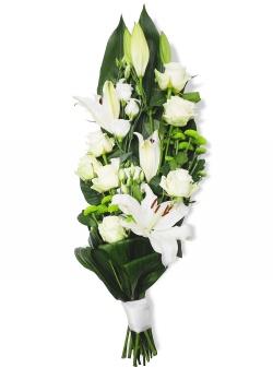 Les fleurs deuil Bouquet Gerbe Serena - 123fleurs