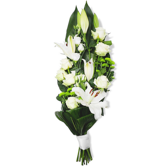 Bouquet gerbe serena for Fleurs enterrement