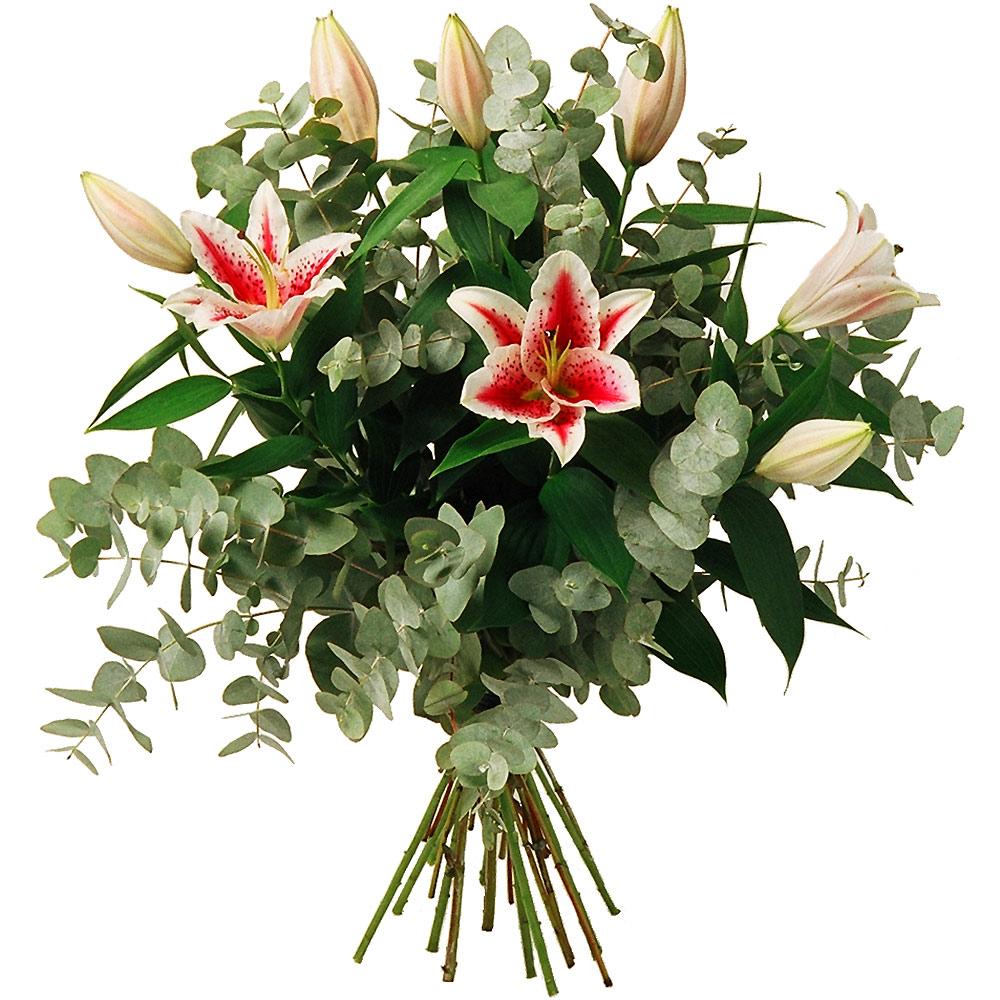 Deuils et enterrements les fleurs deuil bouquet harmonie for Bouquet de lys