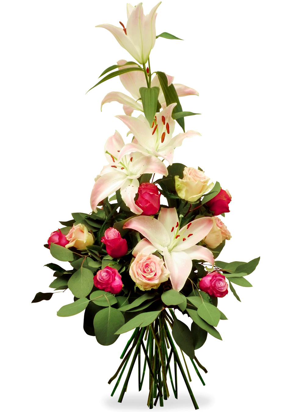 Les fleurs du fleuriste bouquet lys festif chez 123fleurs for Fleurs fleuriste