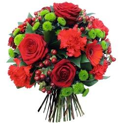 Fleurs Rouges Envoyez Un Bouquet De Fleurs Rouges 123fleurs