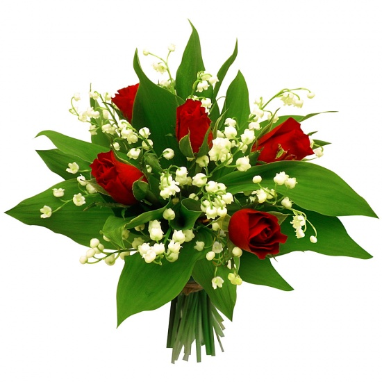 Bouquet muguet en rouge for Bouquet de fleurs 123