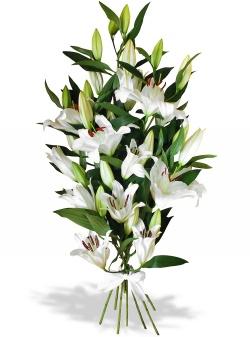 Les fleurs mariage Bouquet Passion de Lys - 123fleurs