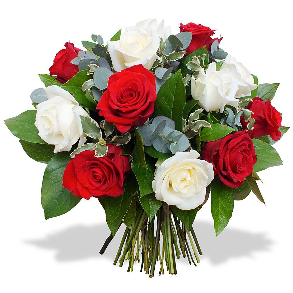 Bouquet de fleurs rouge et blanche for Bouquet de fleurs 123