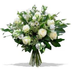 Les fleurs deuil Bouquet Pur Cristal - 123fleurs