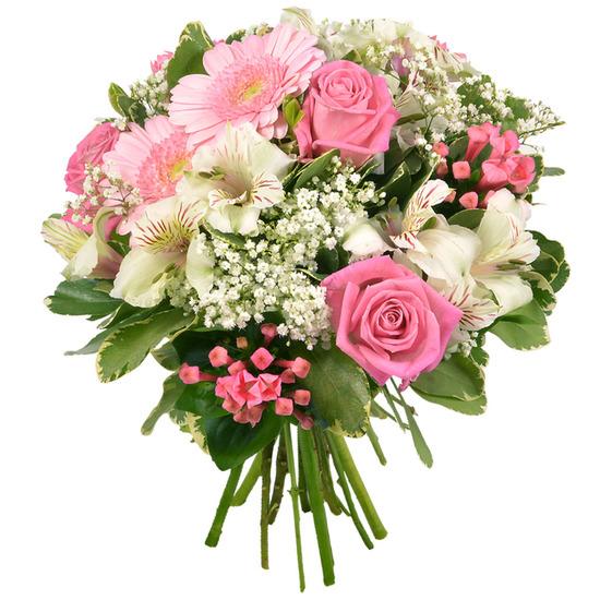 bouquet romantique rose et blanc. Black Bedroom Furniture Sets. Home Design Ideas
