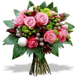 Fleurs de Nouvel An Bouquet Rosée hivernale - 123fleurs