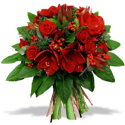 Fleurs en f te bouquet rouge tradition livraison en 4h for Bouquet de fleurs pour 60 ans