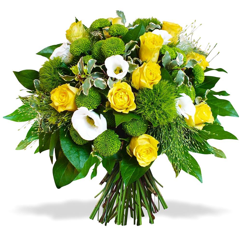 Bouquet de fleurs jaune et blanche for Bouquet de fleurs orange et jaune