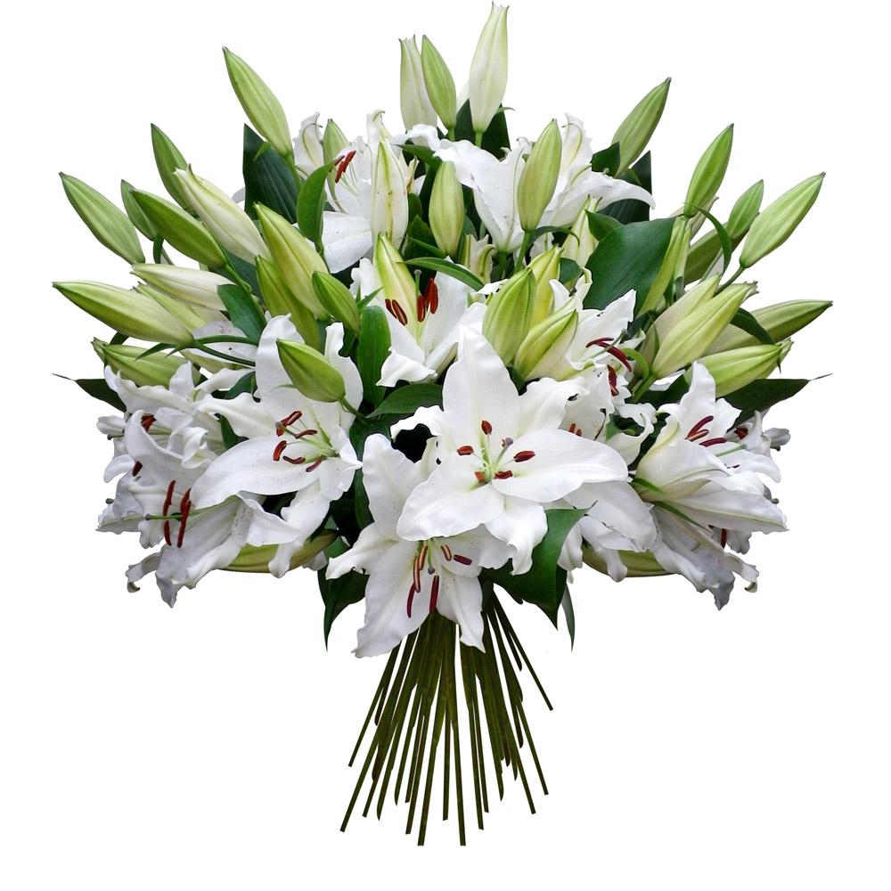 Les fleurs du fleuriste bouquet tendre lys for Bouquet de fleurs 123