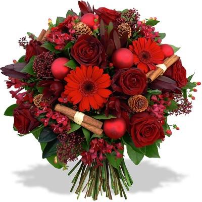 Fleurs en f te bouquet tendresse de no l livraison en 4h - Bouquet de fleur en coeur ...