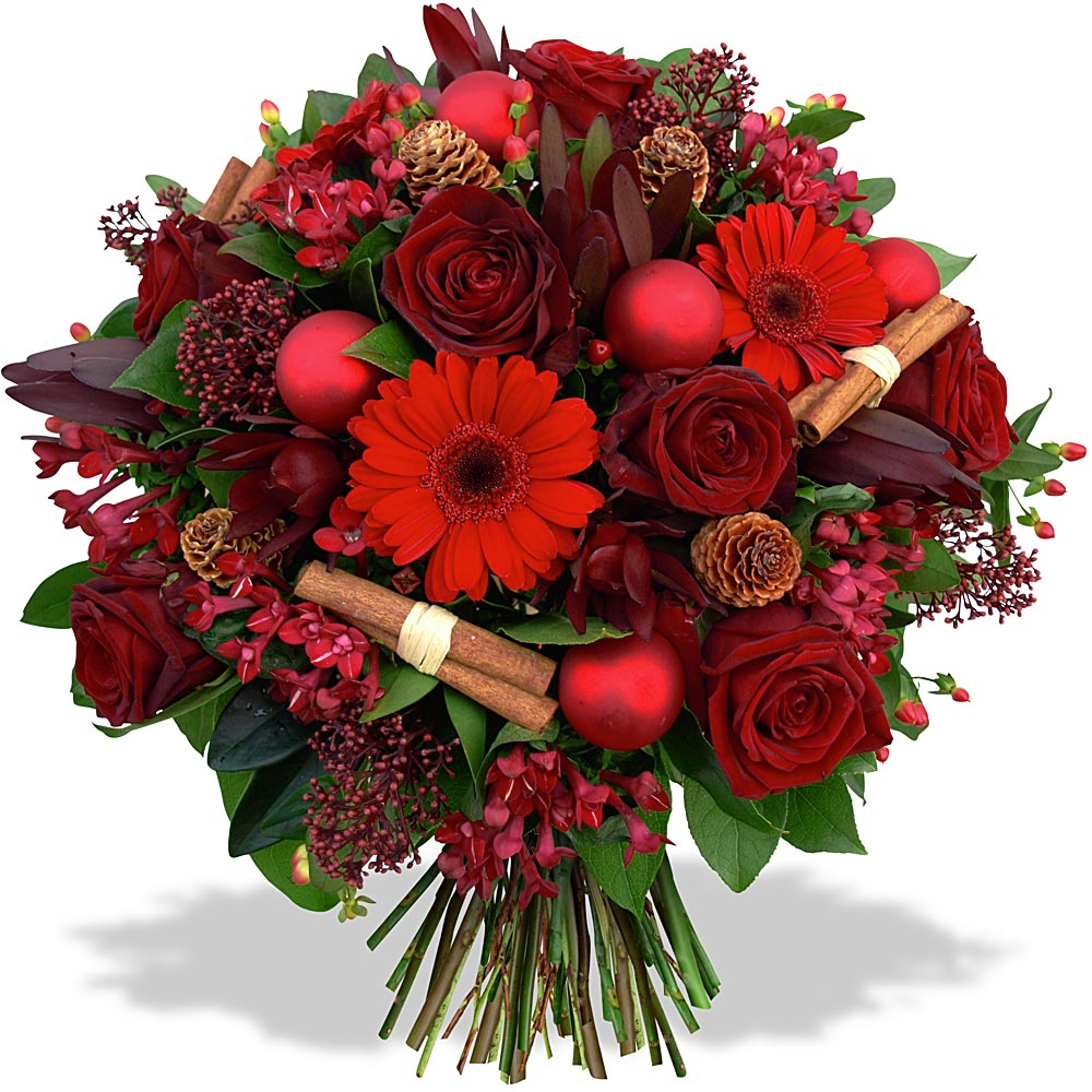 Par occasions fleurs en f te bouquet tendresse de no l for Bouquet de fleurs photo