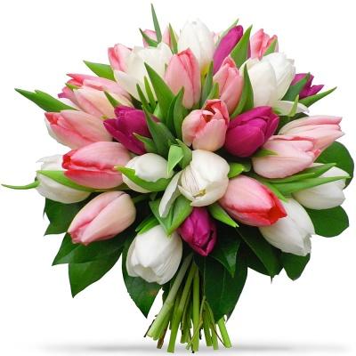 les tulipes du fleuriste bouquet tulipes romantiques livraison en 4h. Black Bedroom Furniture Sets. Home Design Ideas