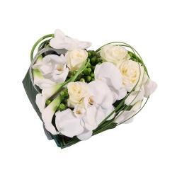 Les fleurs deuil Coeur de fleurs Amaréa - 123fleurs