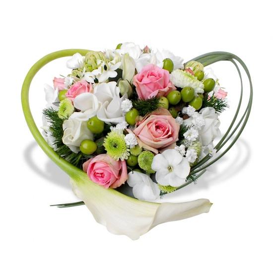 Coeur tendresse - Bouquet de fleur en coeur ...