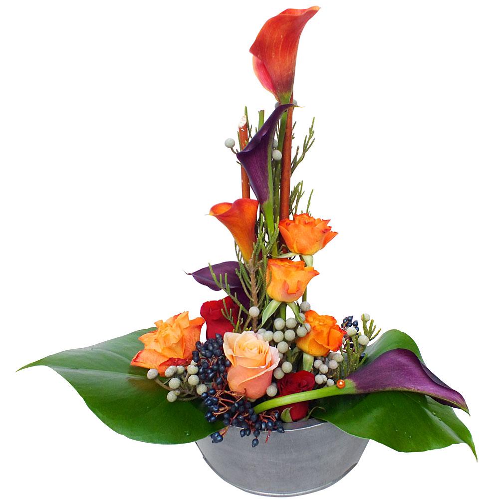 Livraison de fleurs en 4h les fleurs du fleuriste composition arlequin - Composition de fleur ...