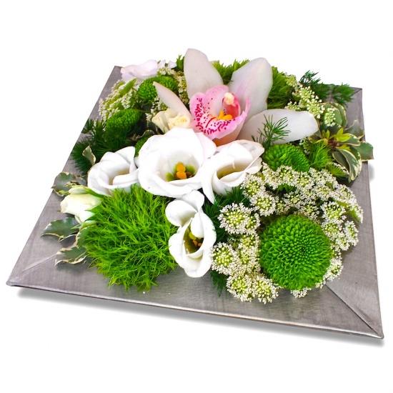 Composition coeur d 39 orchid e - Bouquet de fleur en coeur ...