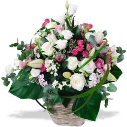 Les fleurs mariage Corbeille Dioné - 123fleurs