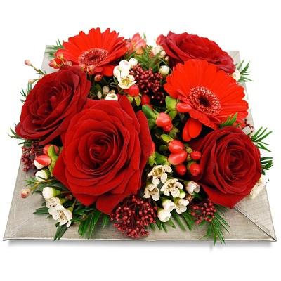 Fleurs saint valentin composition jardin d 39 eden livraison en 4h - Composition st valentin ...