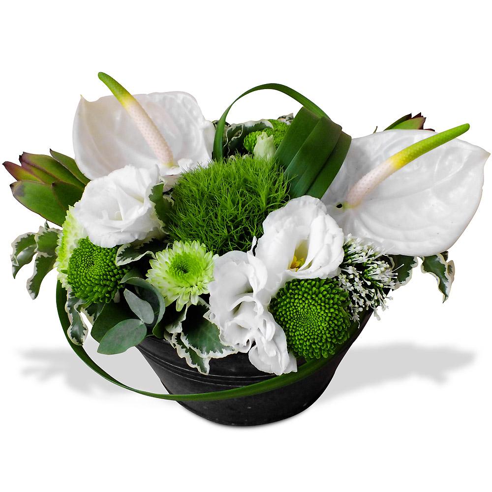 Par occasions les fleurs mariage composition mariage heureux - Composition fleur mariage ...