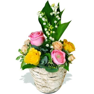 Composition muguet tendresse livraison en 4h for Bouquet de fleurs 123