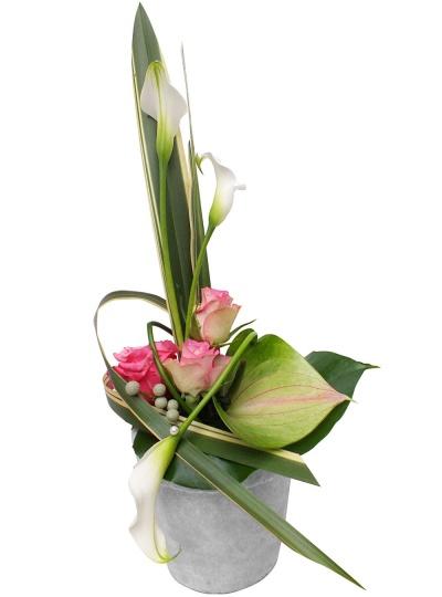 les fleurs du fleuriste composition raffinement livraison en 4h. Black Bedroom Furniture Sets. Home Design Ideas
