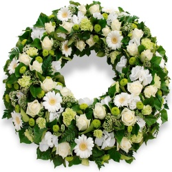 Les fleurs deuil Couronne de fleurs Souvenir - 123fleurs