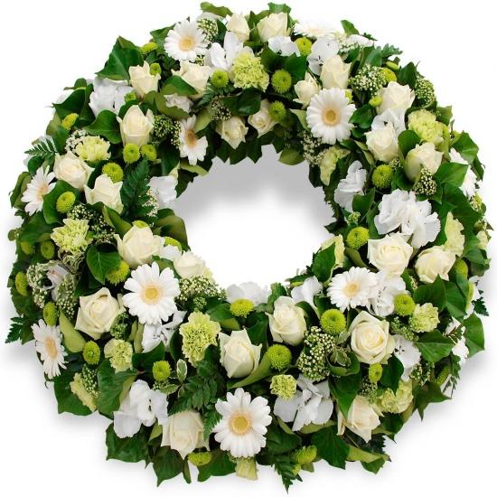 Couronne de fleurs souvenir for Couronne de fleurs