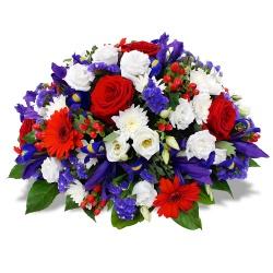 Coussin de fleurs Tricolore