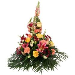 Les fleurs deuil Coussin haut Sépélio - 123fleurs