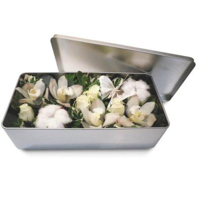 Bouquet de fleurs en boite douceur blanche livraison en 4h for Bouquet de fleurs dans une boite