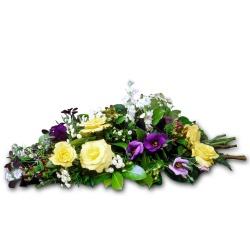 Gerbe de fleurs piquées Céleste - 123fleurs