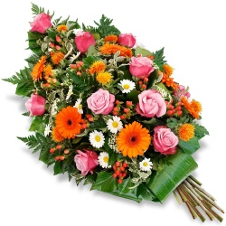 Les fleurs deuil Gerbe de fleurs piquées Compassio - 123fleurs